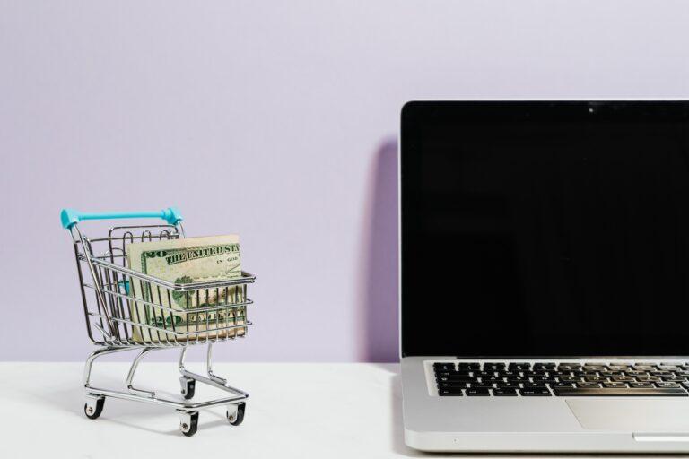 shopping cart & Laptop